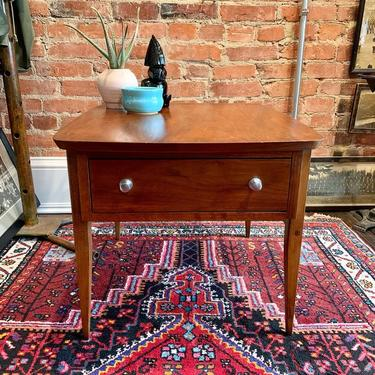 One drawer mid-century modern bedside table / side table (Lane)