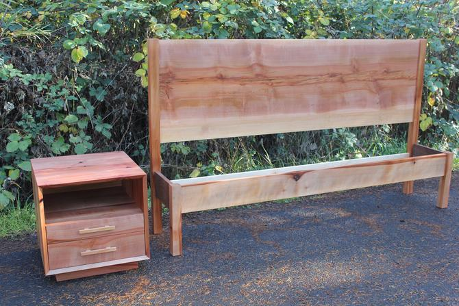 Solange Madrone NW Panel bed by MakersWoodworks