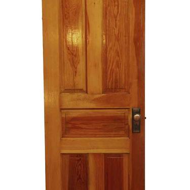 Antique 5 Pane Yellow Pine Passage Door 79.5 x 27.75
