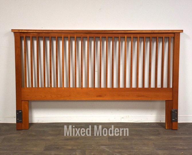 Pompanoosuc Mills Solid Cherry King Modern Headboard by mixedmodern1