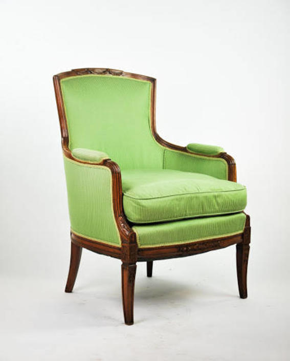 Louis The 15th Style Round Back Arm Chair by BluffStProps