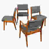 Set 4 Jens Risom Dining Chairs