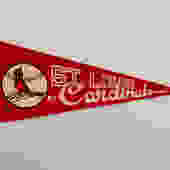 Vintage St. Louis Cardinals MLB Baseball Pennant by DelveChicago