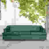 Vintage Emerald Sofa Reupholstered