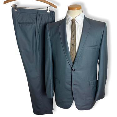 Vintage 1960s 2pc SHARKSKIN Suit ~ size 38 R ~ Jacket / Pants ~ Rockabilly / Mod ~ Preppy / Ivy Style / Trad ~ by SparrowsAndWolves