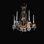 French Gold And Crystal Candle Chandelier