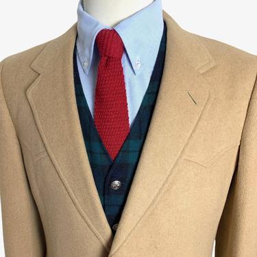 Vintage 1970s PENDLETON Camel Hair Western Blazer ~ size 38 ~ jacket / sport coat ~ by SparrowsAndWolves
