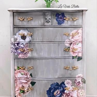 Lush Floral Dresser by LaVidaBellaDesign