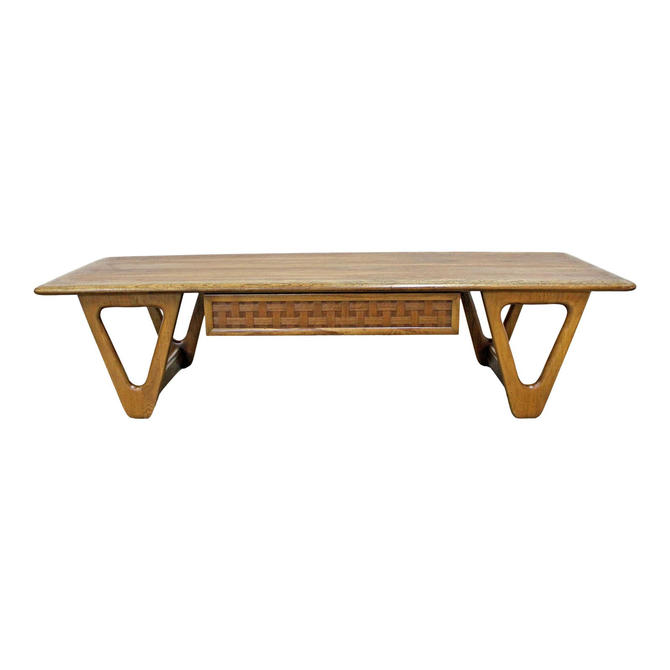 Mid-Century Modern Lane 'Perception' Sculpted Boomerang Leg Coffee Table by AnnexMarketplace