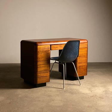 Early Paul Goldman Bent Plywood Desk by midcenTree