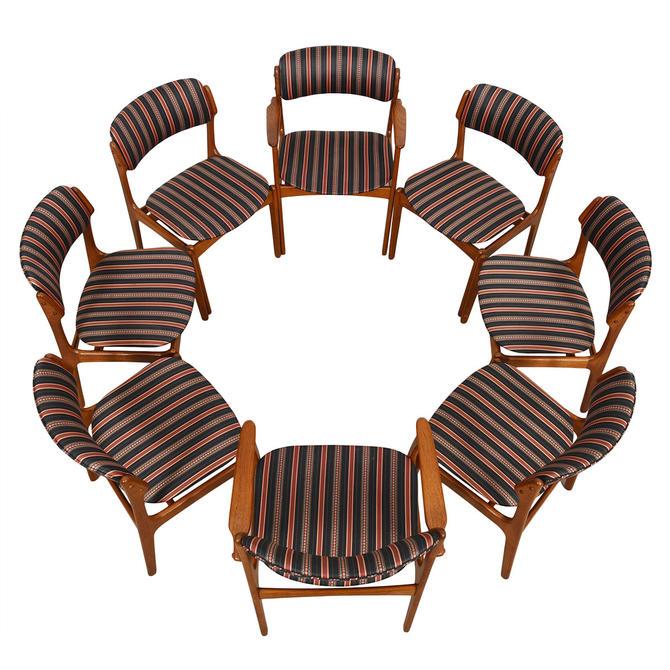 Set of 4 (2 Arm + 4 Side) Danish Modern Teak Dining Chairs by Erik Buch