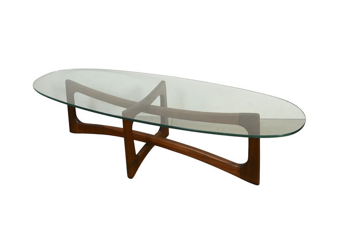 Adrian Pearsall Glass Top Cocktail Table Craft Associates Glass Top Coffee Table by HearthsideHome