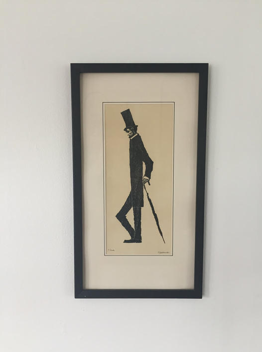 Vintage 1963 Signed Sketch in the Style of 'Long Abraham a Little Longer' by ModandOzzie