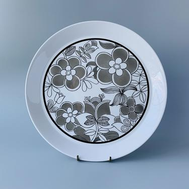 "12.5"" Ben Seibel Casablanca Pattern Serving Plate Charger Chop Plate Mikasa Duplex by HomeAnthology"