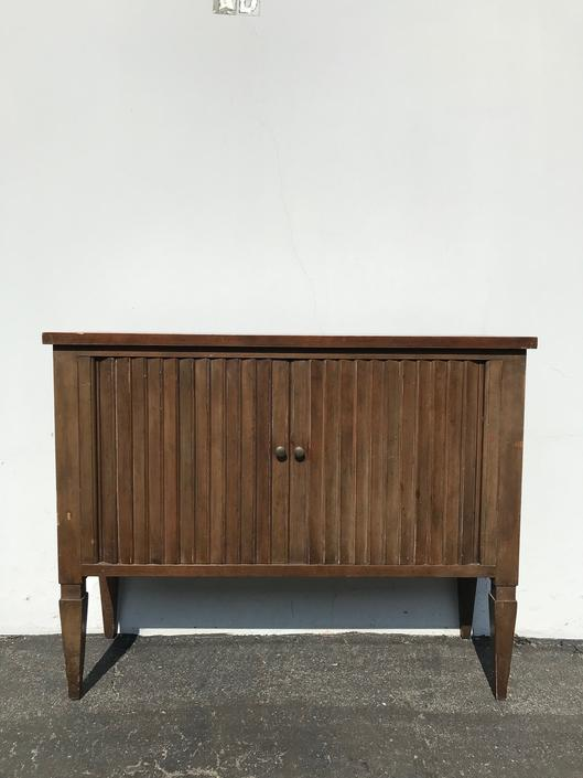 Wood Cabinet Console Table Traditional Baker Furniture Tambour Door Trunk Storage Dresser Buffet TV Stand Media Entry Way CUSTOM PAINT Avail by DejaVuDecors