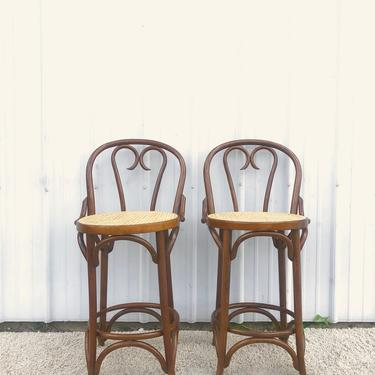 Vintage Thonet Style Counter Stools