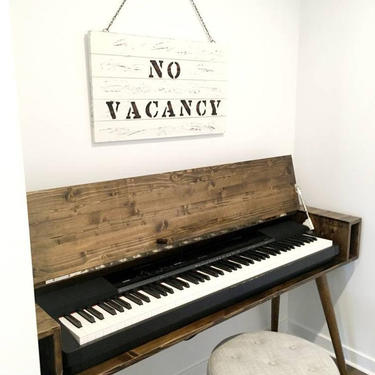 Mid Century Keyboard Stand Piano Stand by OrWaDesigns