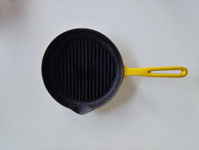 Copco Nacco Yellow Pan Denmark Griddle Cast Iron Enameled 105 by ModandOzzie