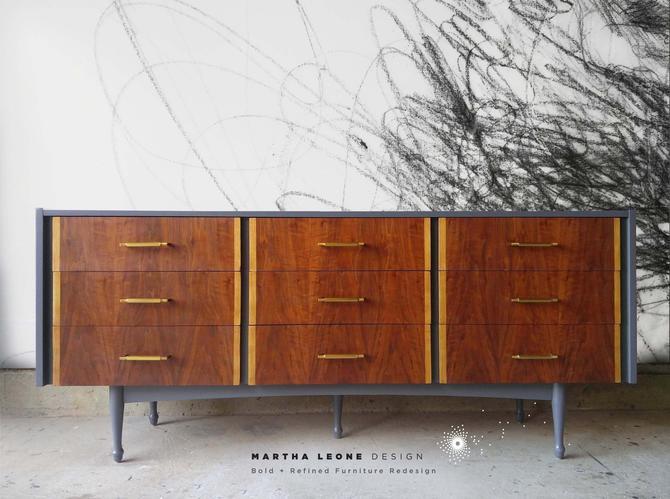 Mid Century Triple Dresser Custom Order SAMPLE by MarthaLeoneDesign