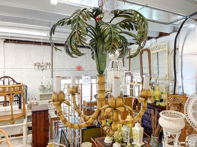 Curry and Company Palm Chandelier