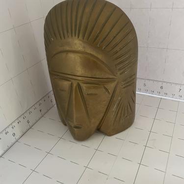 18951315 - BRONZE EGYPTION STLE FACE - XINDON HARRIS STUTGART - MID MOD ACCESSORIES