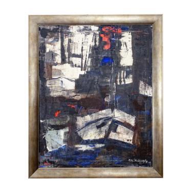 Original Abstract Oil Painting on Canvas by Rita Hvilivitzky - 1962 by JefferyStuart