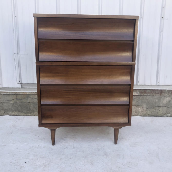 Mid-Century Highboy Dresser by Johnson Carper by secondhandstory