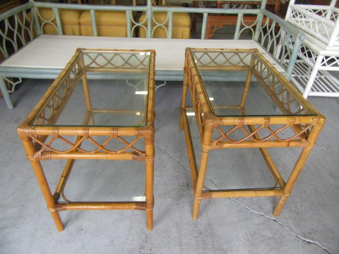 Bamboo Island Style Side Tables