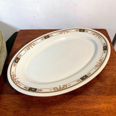 Vintage Syracuse China Webster Restaurant Ware White Oval Platter by OverTheYearsFinds