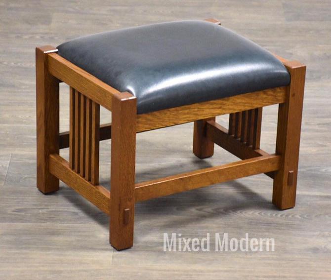 Stickley Oak Mission Footstool Ottoman by mixedmodern1
