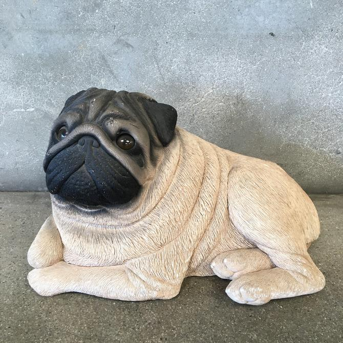 Life Size Pug Dog Statue Figure