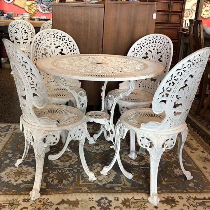 Adorable patio furniture! Aluminum table - $125, chairs $40 each!