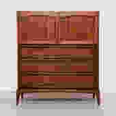 Vintage Walnut Highboy Dresser by Lane
