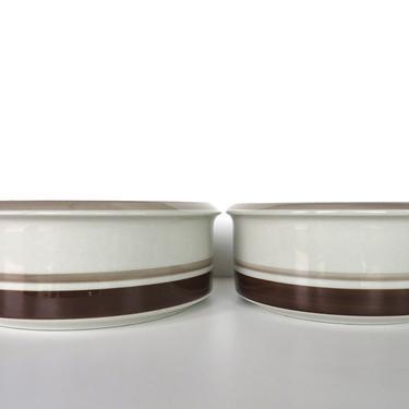 Arabia Finland Pirtti Stoneware Vegetable Bowl Set, 2 Scandinavian Round Serving Dishes Designed by Raija Uosikkinen, from Finland. by HerVintageCrush