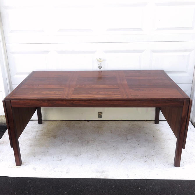 Danish Modern Rosewood Dining Table for Vejle Stole by secondhandstory