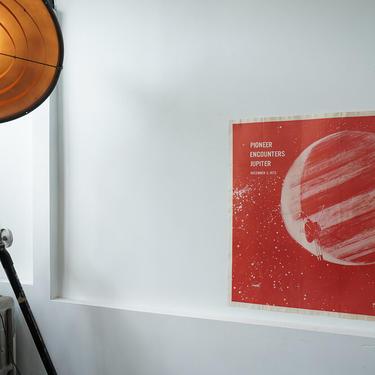 Rare Original 1973 Pioneer Encounters Jupiter Poster