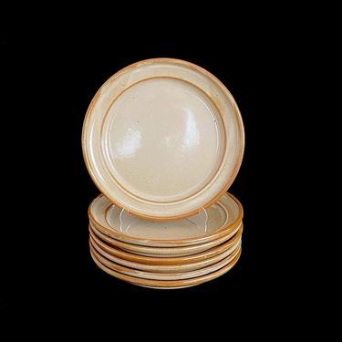 "Vintage Mid Century Modern Dansk Speckled Earthenware Stoneware Brown Mist 10  3/16"" Dinner Plates Neils Refsgaard Design Japan MCM by SwankyChaperooo"