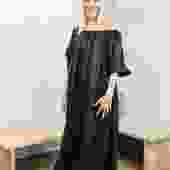 Cassatt Dress, Linen in Black