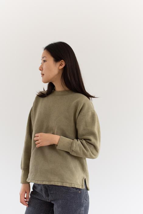 Vintage French Faded Olive Green Sweatshirt | Cozy Fleece | 70s Made in France | FS008 | M by RAWSONSTUDIO