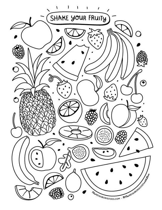 Shake Your Fruity Coloring