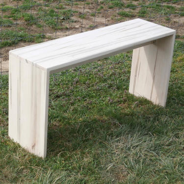 """E0110A Hardwood Table for TV or end of bed or Bench, 42"""" wide x 12"""" deep x 21"""" tall - natural color by SolidCherryHeirlooms"""