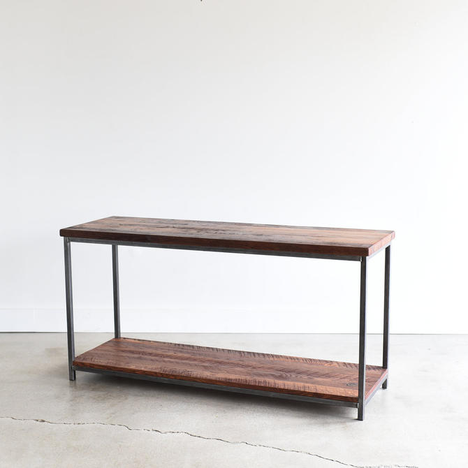 Stoic Reclaimed Wood Console Table / Lower Shelf by wwmake
