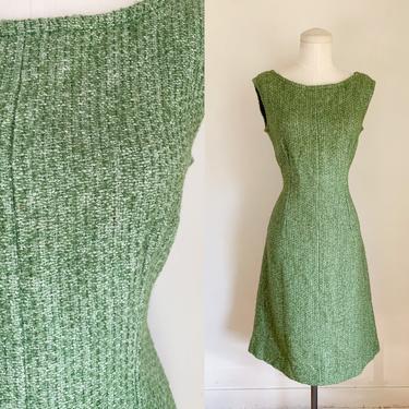 Vintage 1960s Green Wool Tweed Dress / M by MsTips