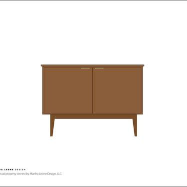 New Hand-Crafted Walnut Bar Cabinet with storage options and custom finishes available by MarthaLeoneDesign