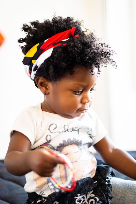 Zizi Elegance baby headband, Kente fabric, African print by PriscArts
