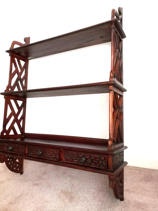 Chinese Chippendale Hanging Shelf / Etagere by ModernPicks