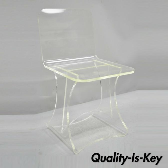 Vintage Lucite Mid Century Modern Small Accent Vanity Side Chair