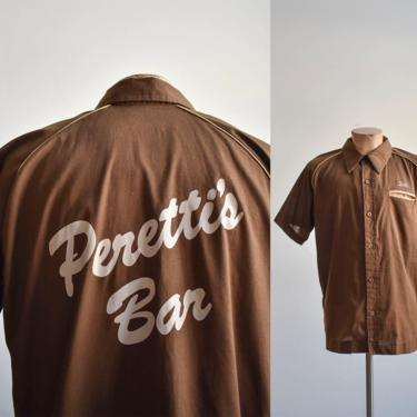 1970s Perettis Bar Bowling Shirt by milkandice