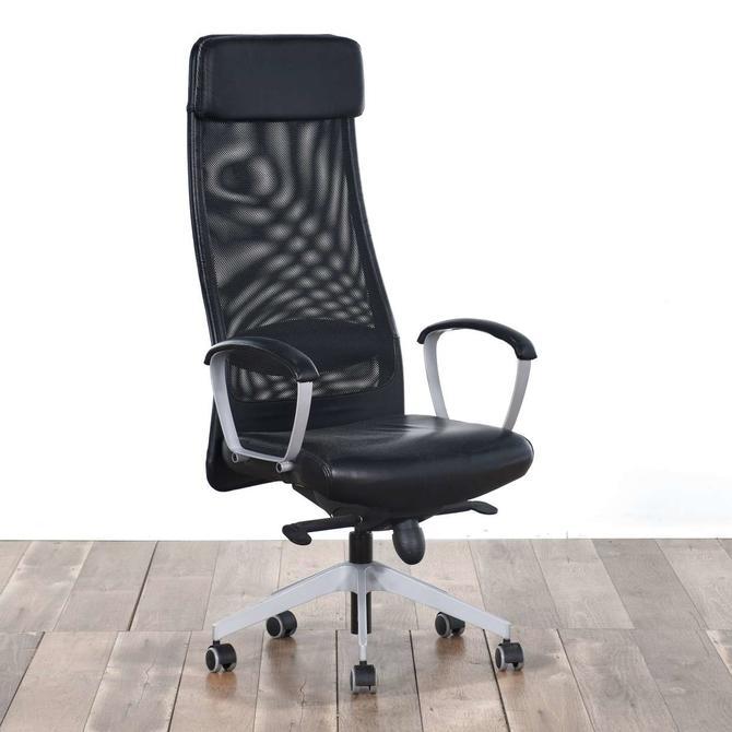 Contemporary Black Ergonomic Office Chair 6