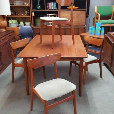 Danish Modern teak dining chairs by Schionning and Elgaard for Randers